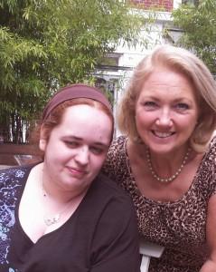 Sophie with Author Karen Aldous
